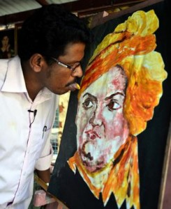 Ani K tongue painting